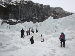 Our group proceeding up a slope yet to another blue ice cave., , northshore69 - October 2011