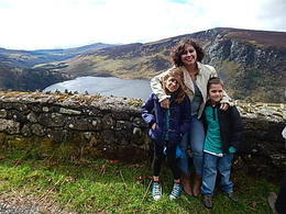 My children, Donna and Jacob and I at one of the beautiful lakes in Sally Gap. , Linda S - April 2014