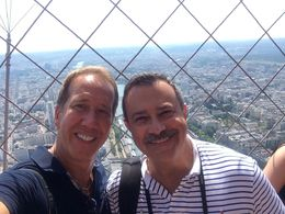 Here is Scott and Jeff at the top of the Eiffel Tower!!! , Scott R - June 2015