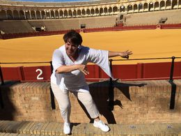 Inside the bullfighting rink of Sevilla , Sandra M - September 2015