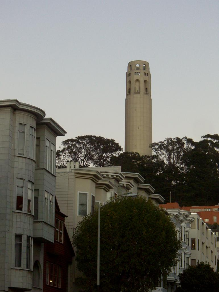 View of Coit Tower from North Beach, San Francisco - San Francisco