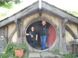 My friend Simon and I at a hobbit home. I fit right in. , Lesa M - January 2013