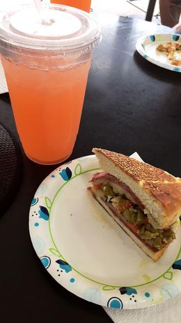 Mufaletta at Alberto's Bistro at the French Market , Sybil S - September 2017
