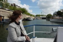 Admiring the Bastille from the Paris Canal as part of the Viator Seine River and Canal Tour , nag33m - June 2012