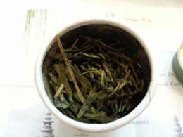 premium grade Longjing tea leaves , wolfman mao - October 2014