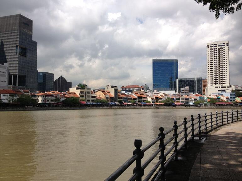 Boat Quay in Singapore - Singapore