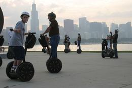 Riding our Segways and enjoying the beautiful view of Chicago. - June 2010