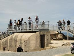 Point Du Hawk Bunker, viewing all the craters from the shelling, Robert T - June 2010
