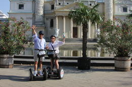 Les and Marty on the Segway tour of Vienna , Marty H - September 2011