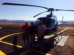 Group pic taken by pilot at Grand Canyon Landing , John W - August 2014