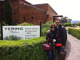 Alberto and Michele having fun in our first stop: Yerring Station. Good wine, lovely location , Alberto A - November 2011