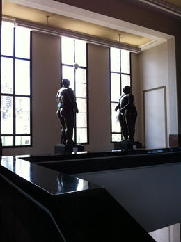 Sculptures of a man and a woman inside the museum., Bandit - September 2012