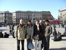 Our group look towards Duomo, a short break to Milan, just one of many such tours we are taking throughout Europe., Richard H - February 2009