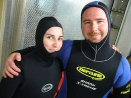 Shark diving duo., Kelly G - May 2008