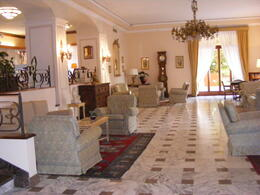 The lobby of the gorgeous hotel in Sorrento , NittanyLaura - August 2011