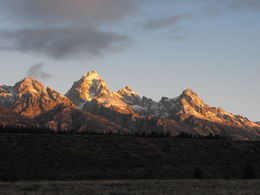 We saw the sunrise while in the area of the Tetons. , Nan - September 2015