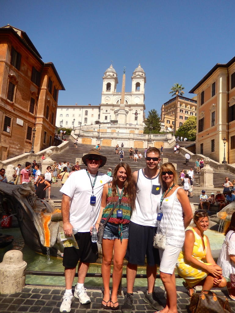 The Spanish Steps. First part of the best of Rome Tour - Rome