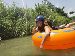 Tubing down the river on my belly , kelle r - July 2013