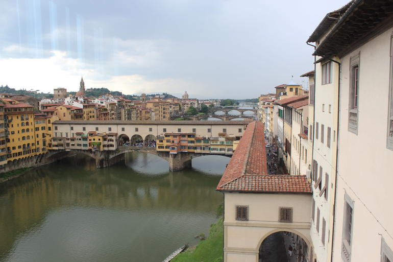 View from 2nd floor window in Uffizi Gallery - Florence