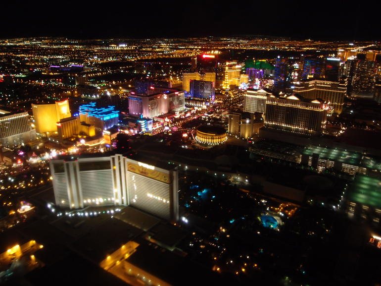 View of the Las Vegas Strip from the helicopter - Las Vegas