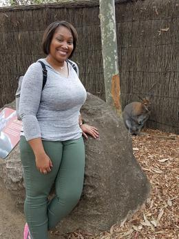 Myself and a cute little Wallaby , Nikki H - November 2016