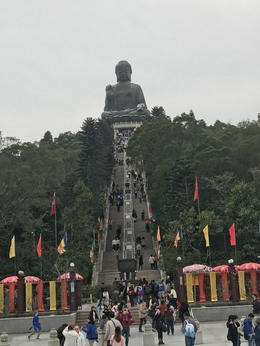 Steps to the Big Buddha , Lulu Belle - January 2017