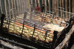 hangi feast at Tamaki Maori Village , Heather F - July 2017