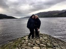Loch Ness with my cousin. , Maureen L - November 2017