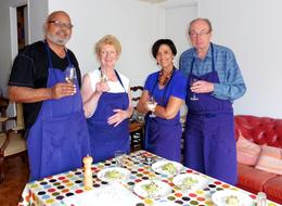 Americans and Australians share a cooking lesson in Paris , Leslie E - October 2014
