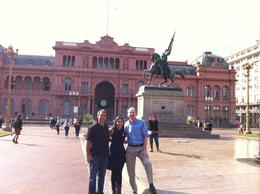 At the Plaza de Mayo, in front of La Casa Rosada , Lorenext - September 2014
