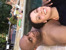 Raheem and Amorette enjoying the Hot Springs , radio - June 2015
