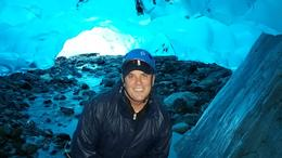 The color inside the glacier is beautiful! , Lisa B - September 2016