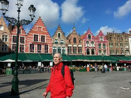 Market Square in Bruges with Dad. , Laura C - October 2015