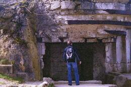 Matthew outside bunker, Matthew K - May 2009