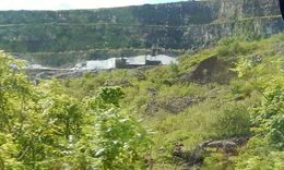 Distant shot of Castle Black exterior set from Game of Thrones , Joseph L - August 2015