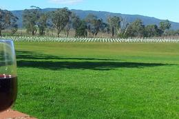 Enjoying wine in the Yarra Valley , BEVERLEY - October 2014