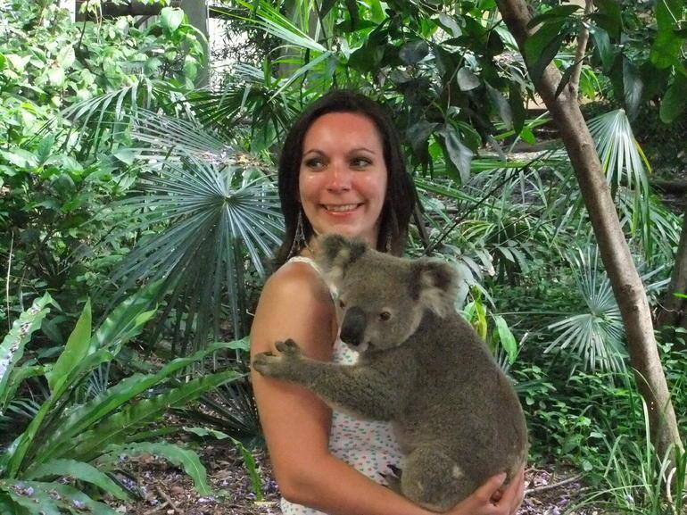 Cuddling a koala - Brisbane