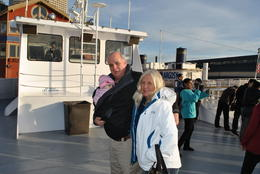 Patti and my Grandaughter Juliet, another first for both of them on the Argosy tour of Elliot Bay. The tour and weather were both fantastic, and the staff were all so helpful with everything. , Clayton C - January 2012