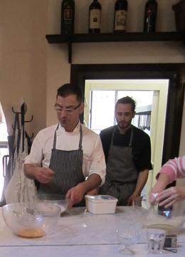 Chef Giovanni gets us started on tiaramisu! , Lauren S - March 2012