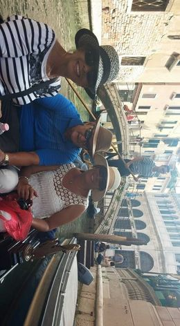 My husband, my daugther-in-law and myself enjoying the gondola ride. , Harold W - June 2015
