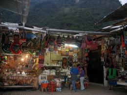 Market in Aguas Calientes. There's no pressure to buy anything at all!, Bandit - December 2010
