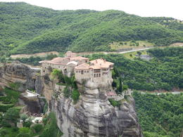 View of one monastery to another at Meteora , Shawn W - June 2014