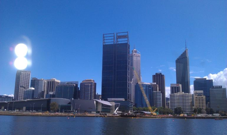 perth city from the Swan River - Perth