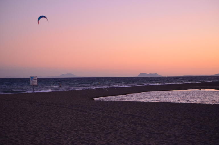 Picture of Gibraltar and the Moroccan mountains at sunset - Costa del Sol