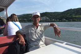 Mario enjoying a boat ride on the Rhine River during Heidelberg and Rhine Valley Tour from Frankfurt , Mario S - July 2014