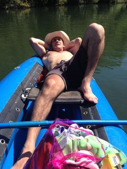 relaxing, Casey - September 2013
