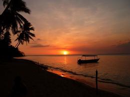 Sunset on the beach - November 2009