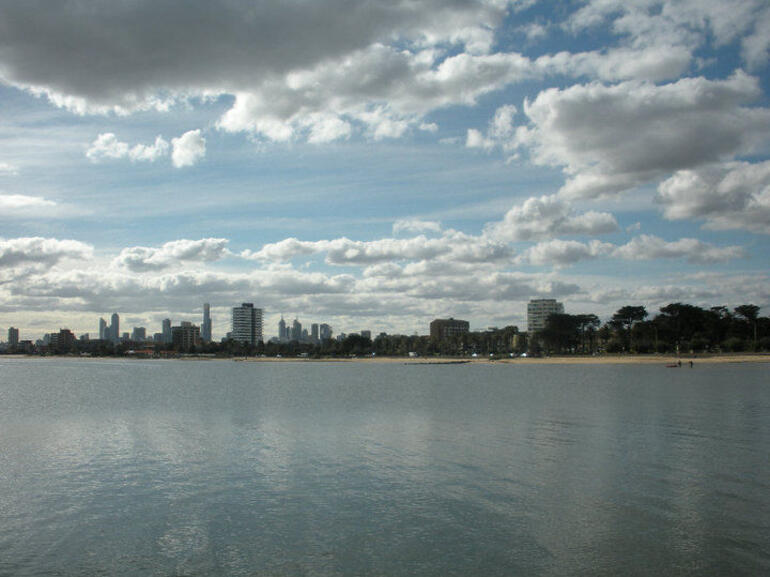 View of Melbourne from St. Kilda -