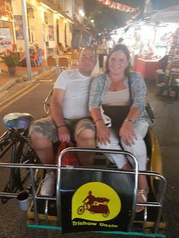 Trishaw Ride through China Town to Clarke Quay , p.gilman - December 2016