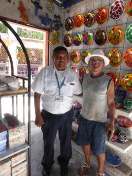 Our tour guide and a local artisan , Alice K K - February 2017